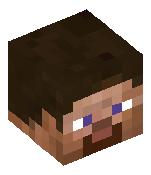 Голова — Куст в горшке с синими цветами